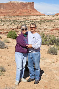 A self portrait of Colleen & I in Canyon Lands National Park.